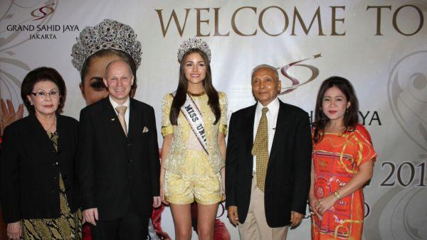 Olivia Culpo saat tiba di Hotel Grand Sahid Jakarta (Foto: dok. Grand Sahid Jakarta)