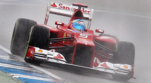 Fernando Alonso di kualifikasi GP Jerman (Foto: AP)