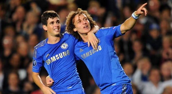 Oscar dos Santos dan David Luiz. (Foto: Reuters)