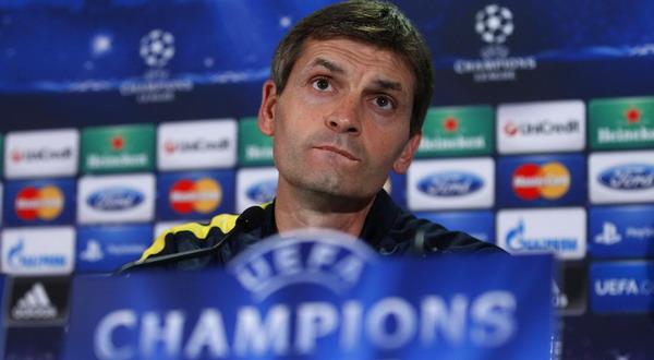 Tito Vilanova di sesi konfernsi pers (Foto: Reuters)
