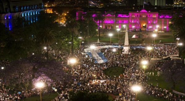 Protes di Argentina (Foto: AP)