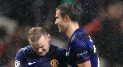 Wayne Rooney- Robin van Persie.(foto:Reuters)