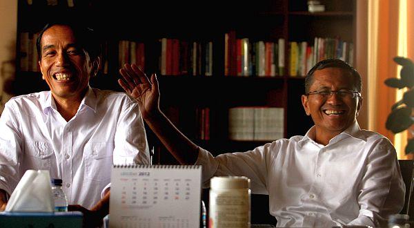 Dahlan & Jokowi (Foto: Heru/Okezone)