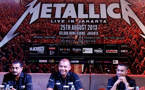 Preskon kedatangan Metallica (Foto: Arief/Okezone)