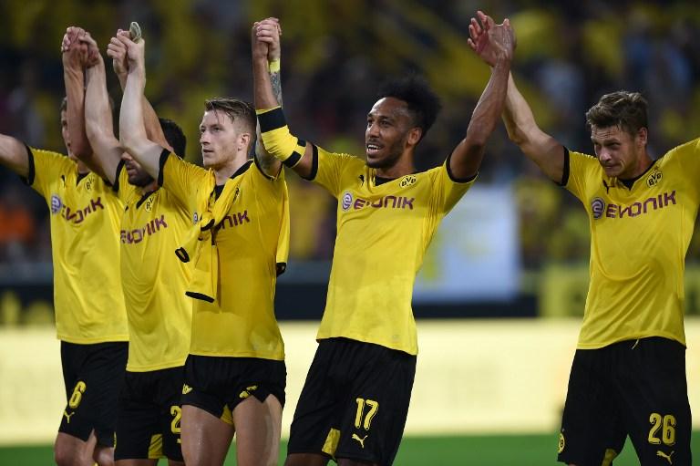 Dortmund merayakan kemenangan atas Wolfsberger (Foto: AFP/Patrik Stollarz)