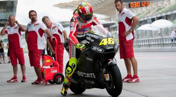 Valentino Rossi masih kesulitan dengan motor baru Ducati GP 12/Getty Images