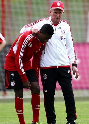 David Alaba dan pelatih Jupp Heynckes. (Foto: Getty Images)