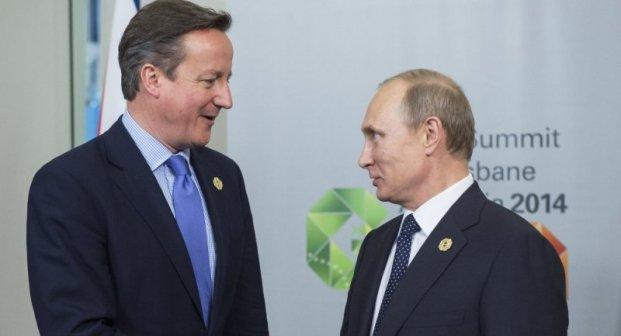 Perdana Menteri Inggris David Cameron (Kiri) Presiden Rusia Vladimir Putin (Kanan) (Foto:Sputnik)
