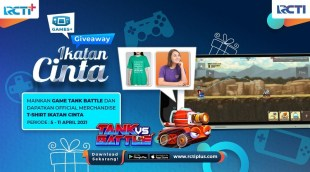 Playing Tank Battle Games on RCTI + Free Official T-Shirt Bonds of Love: Okezone techno