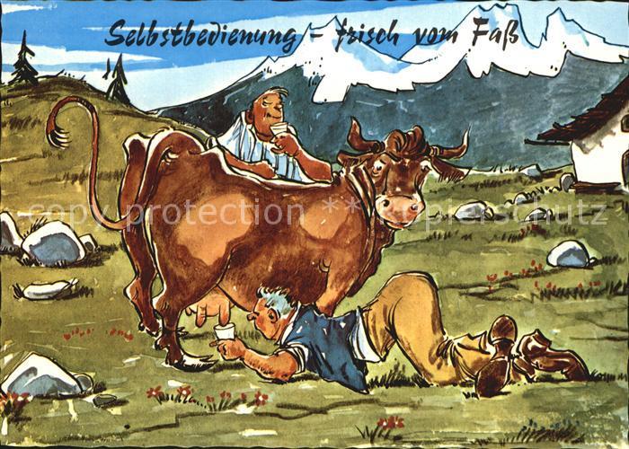 Kuehe Milch Selbstbedienung Humor Kat Tiere Nr Kv27197