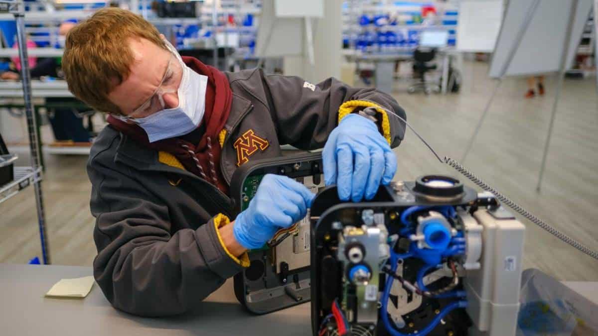 Ventilador mecânico da GM