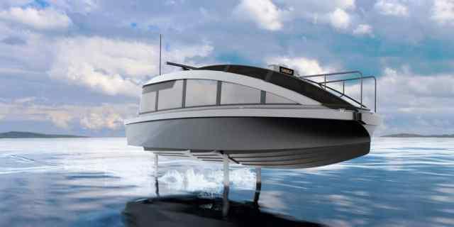 Um táxi aquático e elétrico 90% mais barato que modelos a diesel? Conheça o Candela P-12. Imagem: Divulgação