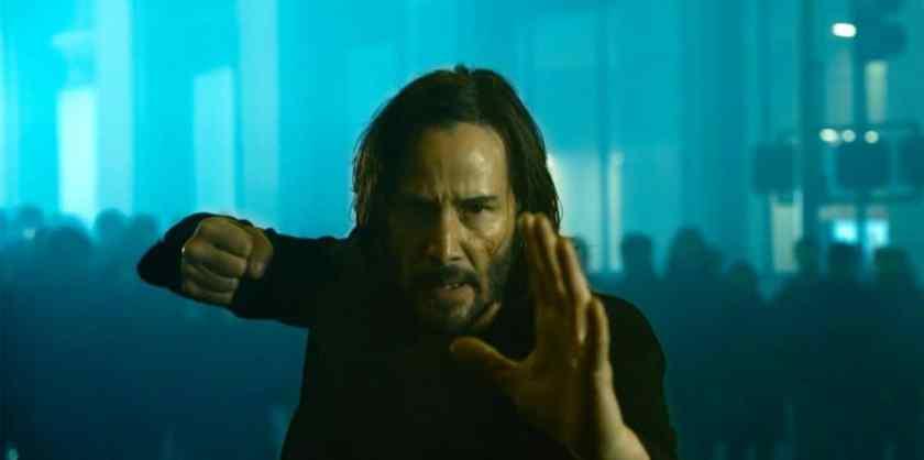 Keanu Reeves as Neo in 'The Matrix Resurrections'.  Image: Warner Bros./Disclosure