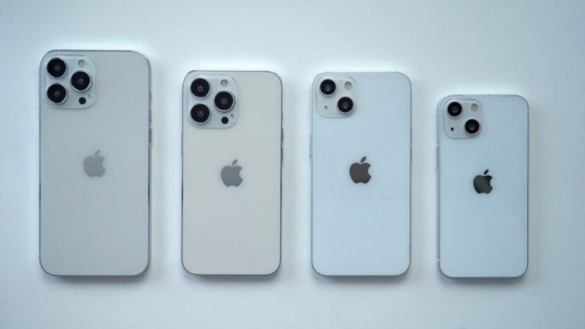 Supposed iPhones 13, 13 Mini, Pro and Pro Max (Image: Playback/MacRumors)