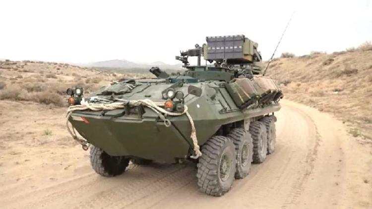 Veículo blindado LAV-M, do Exército dos EUA