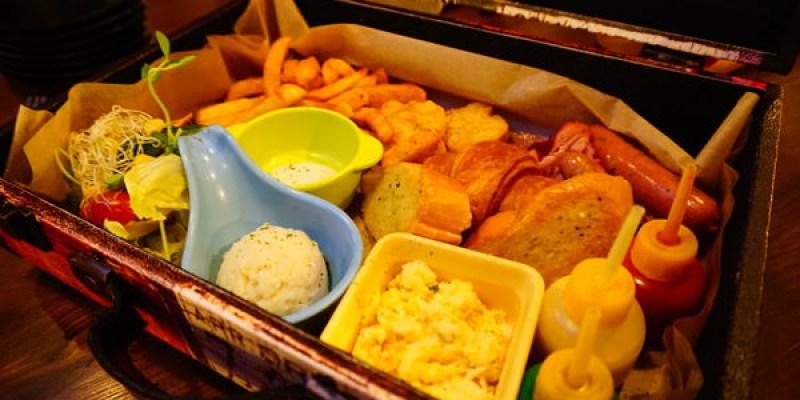 """【台北中山美食】TANK Q 輕食  *♥濃濃工業風""""手提箱早午餐""""工具箱漢堡"""