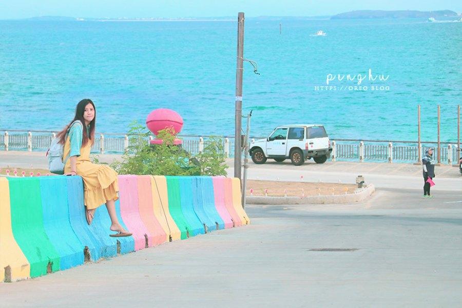 吉貝一日遊 澎湖吉貝船班時刻、費用&拍照景點分享~彩色水泥塊、海草冰