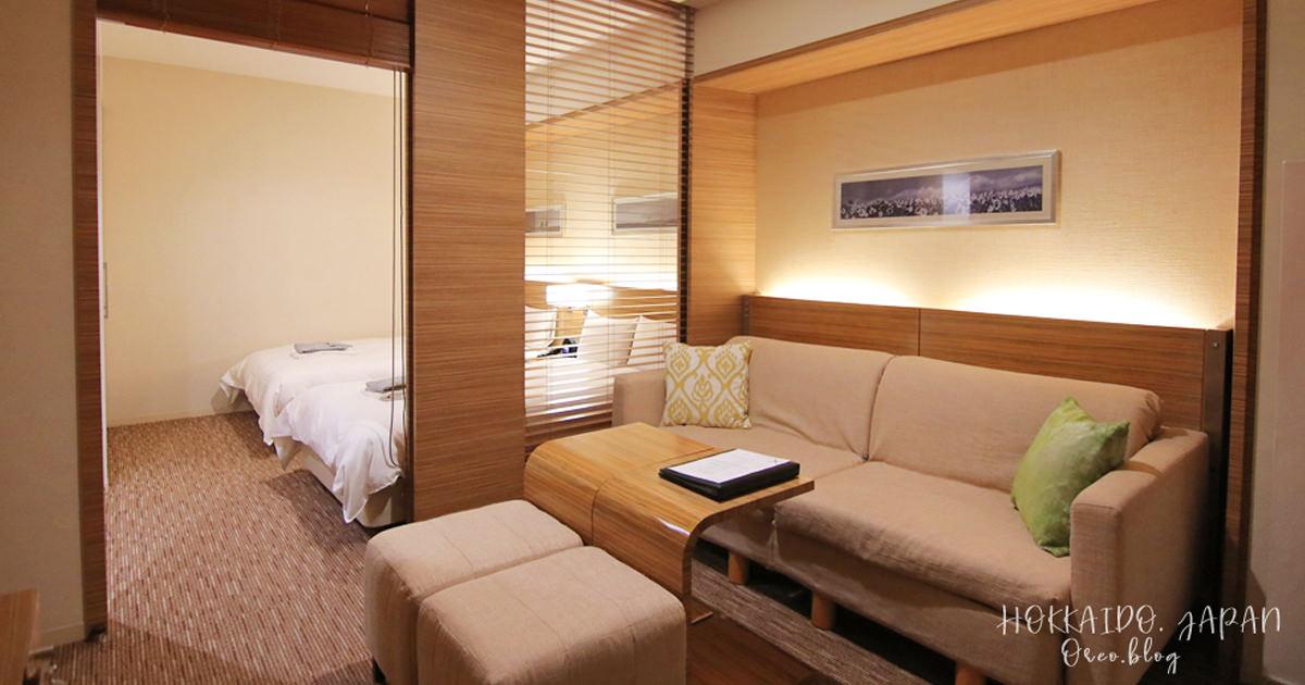 札幌飯店推薦│札幌十字酒店~房內可看到札幌電視塔~寬敞有沙發~四人房/大浴場/早餐