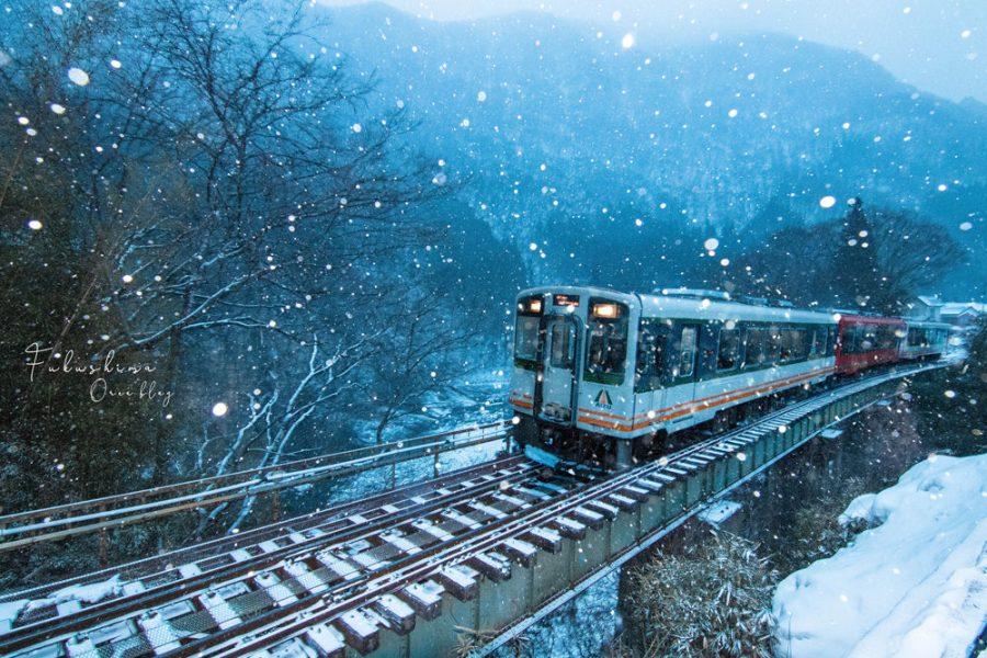 福島湯野上溫泉│清晨摸黑拍攝會津鐵道地點~好像魔法列車啊~(附地圖)