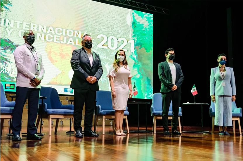 Cancún es sede del 'Congreso Internacional de Regidores y Concejales 2021' - Instituto Mejores Gobernantes, Galo Limón, Andrés Franco, Alcaldesa Cancún Mara Lezama