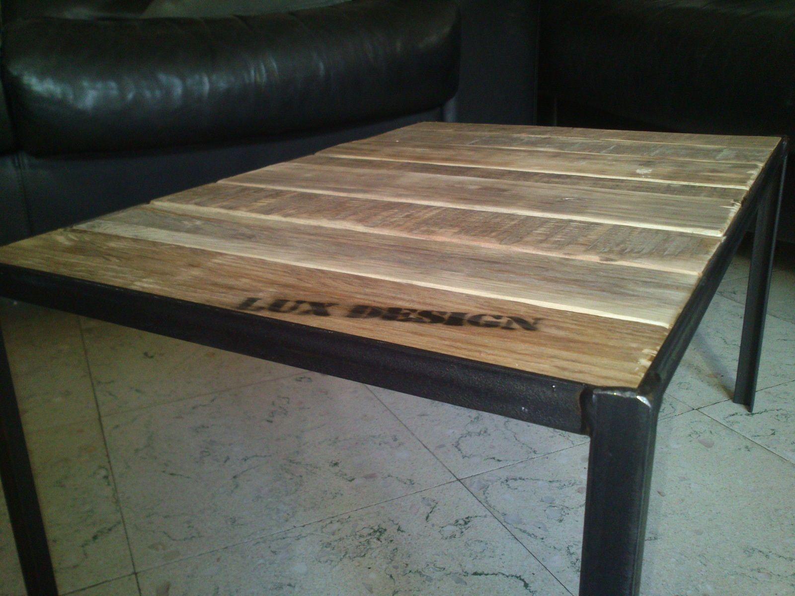 Mini Table De Salon En Acierbois De Palettes Lux