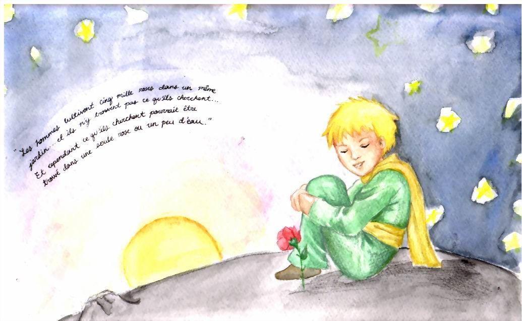 """"""" Les hommes de chez toi, dit le Petit Prince, cultivent cinq mille roses dans un même jardin et ils n'y trouvent pas ce qu'ils cherchent... Et cependant ce qu'ils cherchent pourrait être trouvé dans une seule rose et un peu d'eau... Mais les yeux sont aveugles... Il faut chercher avec le cœur... On ne voit bien qu'avec le cœur... L'essentiel est invisible pour les yeux..."""" (Antoine de Saint-Exupéry, Le Petit Prince)"""