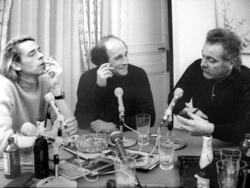 De gauche à droite : Brel, Ferré et Brassens