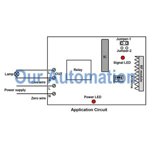 How to Remote Control AC Lamp with Wireless Wall Switch