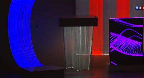 décoration tissu lumineux
