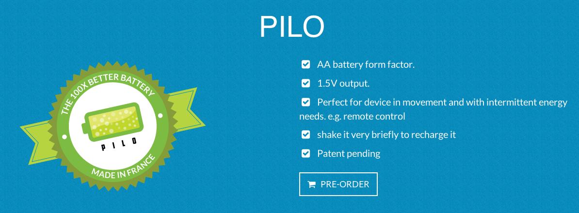 Pilo : et si on avait plus besoin de changer les piles ? [sansVoodoo]