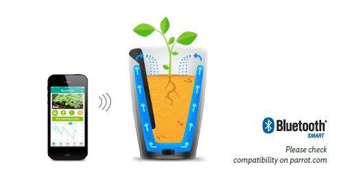 Parrot Pot et H2O : la technologie qui aime les plantes [CES2015]