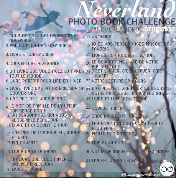 [Photo Book Challenge] Neverland Photo Book Challenge de décembre 2016
