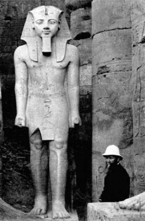 the look of this White man(an Egyptogist or archaeologist surely) show sadness, he is upset by the truth and would like for sure to see his caucasian figure on this statue (then started all their falsifications/lies)