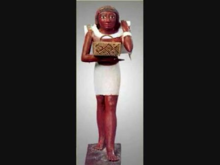 Another civilian Egyptian , we can see how Egyptian depicted themselves as African people not Arab/Semite or White