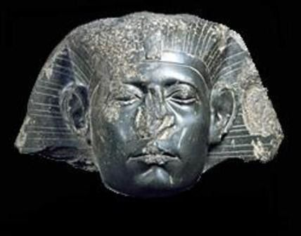 Another African King (pharaoh)'s statue that they mutilated