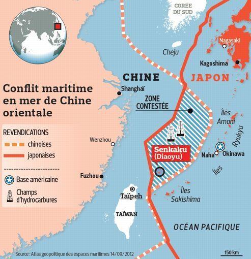 source : dix clés du contentieux sino-japonais, lefigaro.fr, 28 septembre 2012