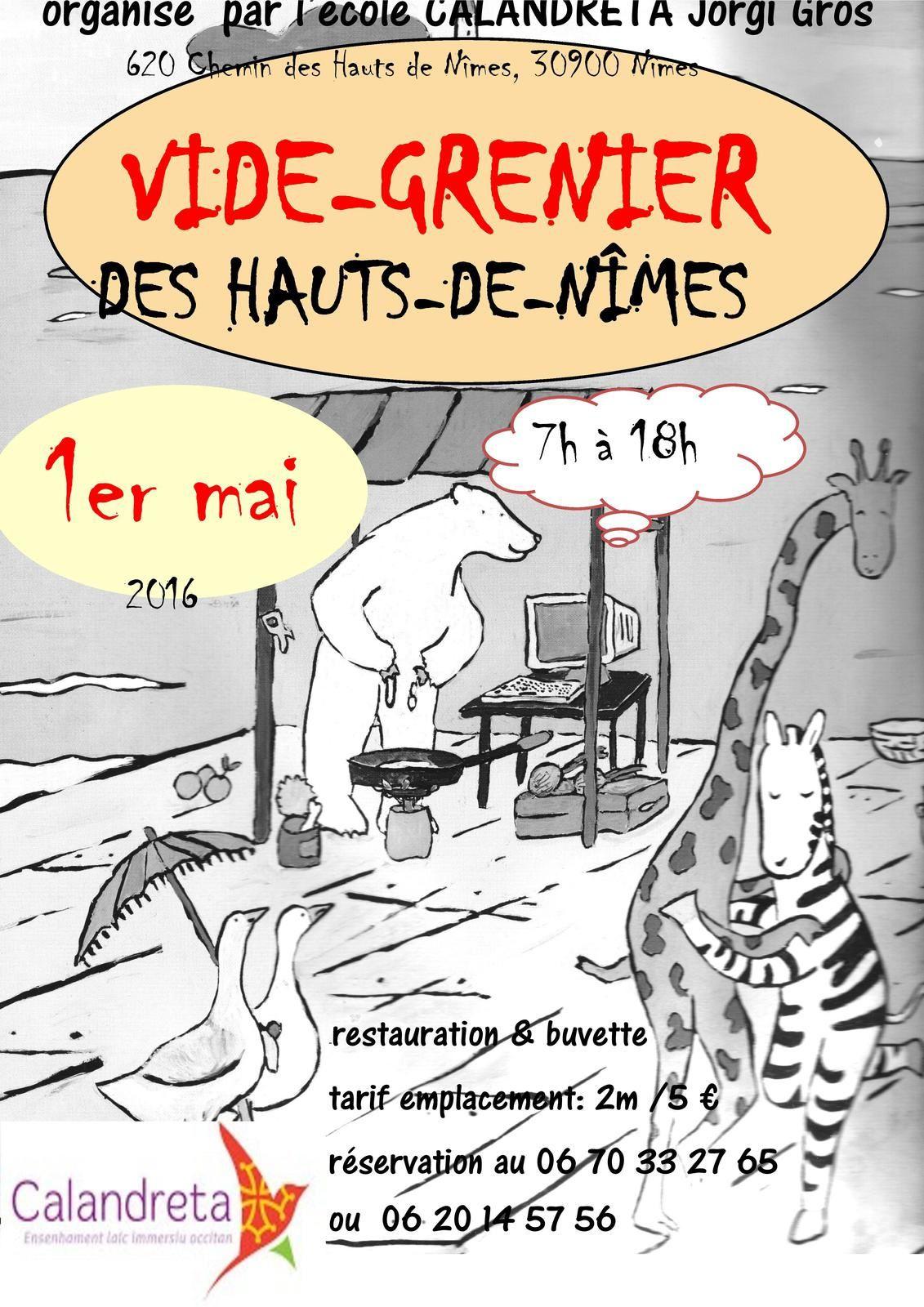 vide grenier a nimes le 1er mai 2016 aux hauts de nimes le blog du comite de quartier de villeverte 30900 nimes