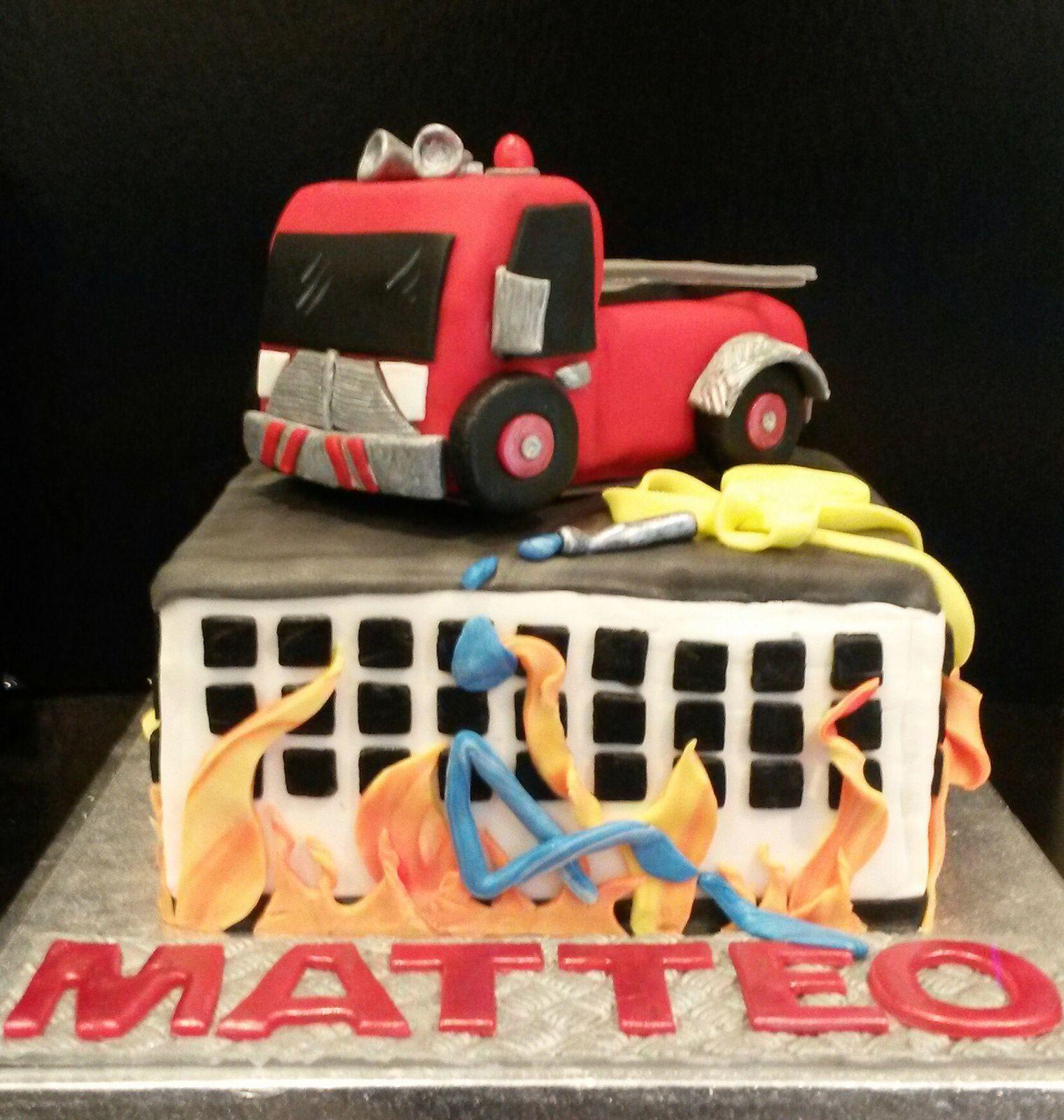 Un Camion De Pompier Dcouper Pompjeen Fireman Birthday