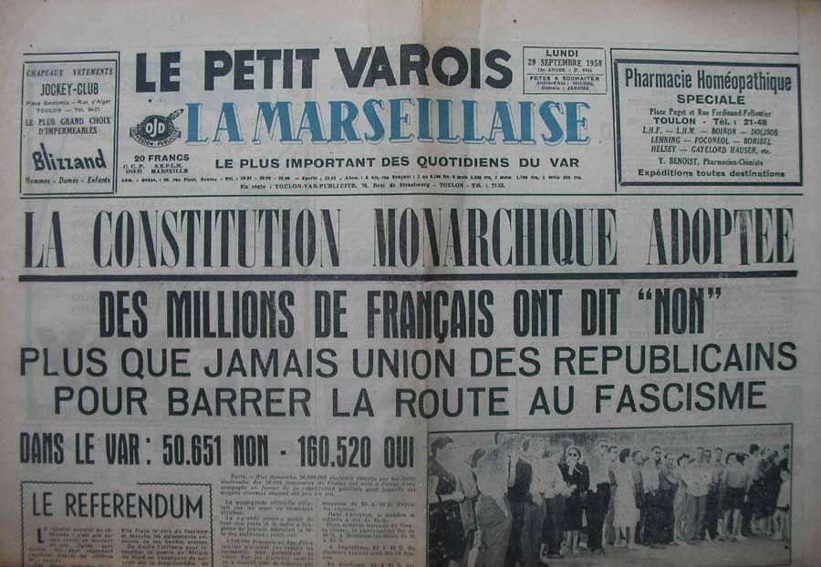 Le coup d'Etat du 13 mai 1958 en France