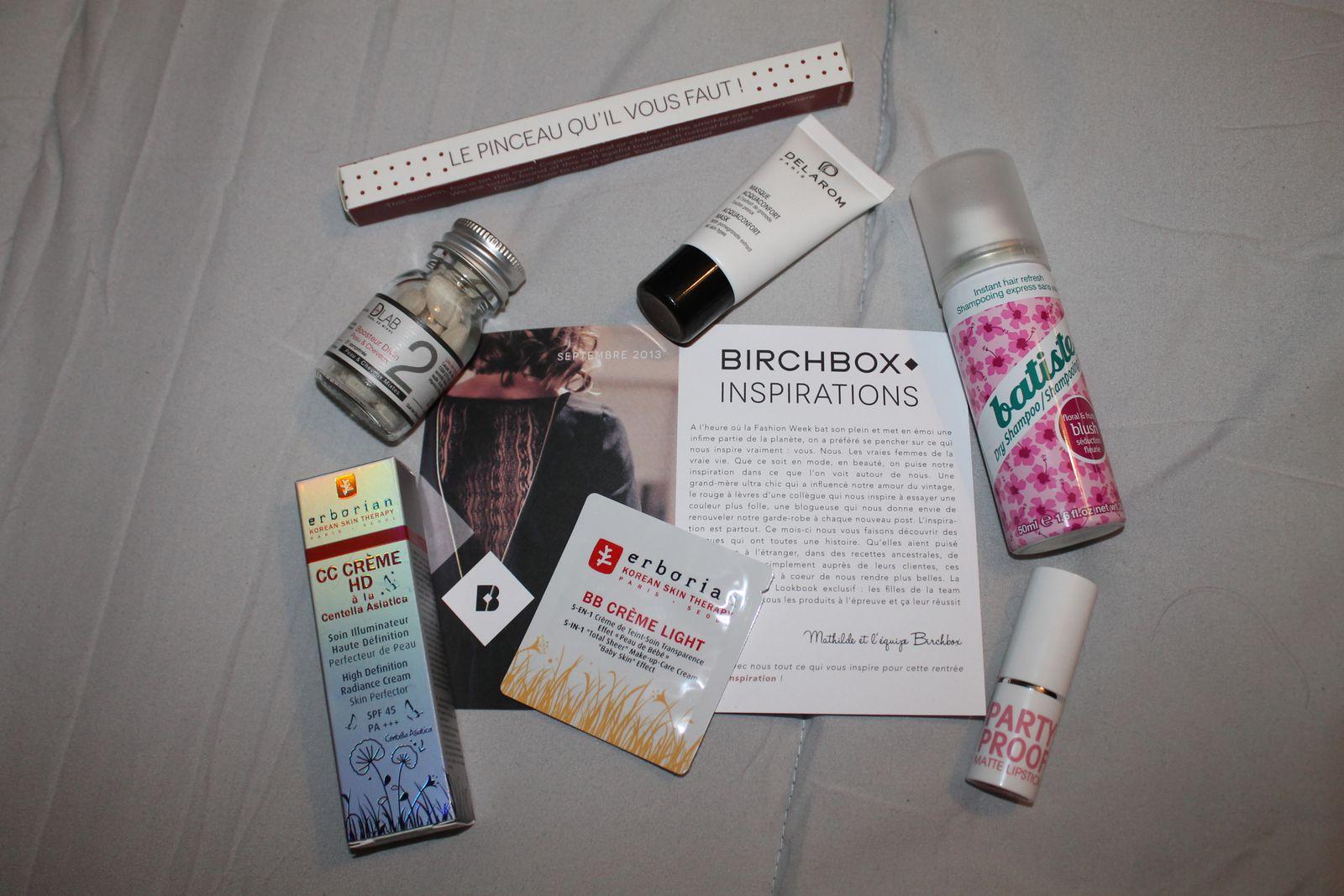 BirchBox septembre 2013
