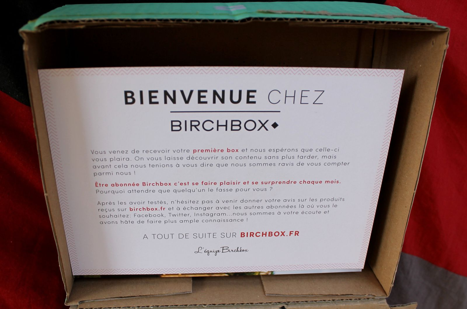 Découverte de la Birch Box