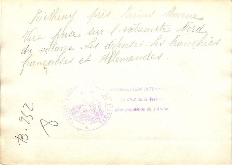 Consignes pour le 61e R.I. dans le secteur de Bétheny