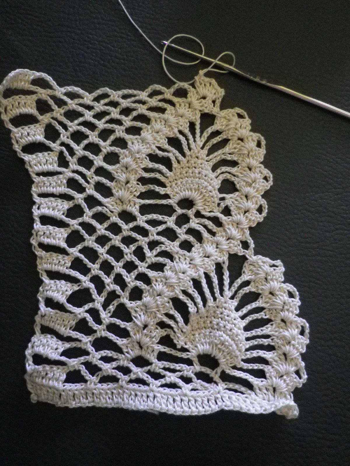 rideau au crochet scrap digital