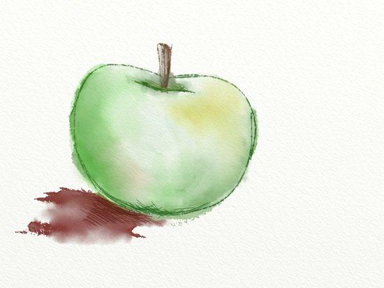 Une autre pomme, on progresse...