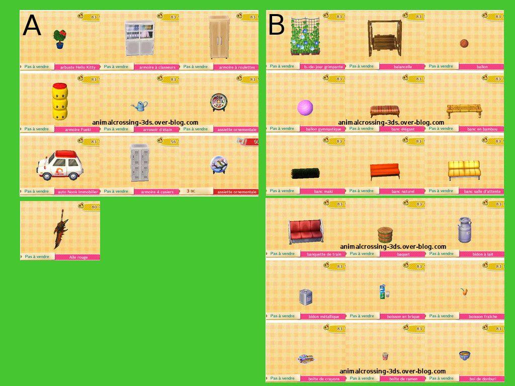Les Meubles De La MAj En Cours Animal Crossing New Leaf