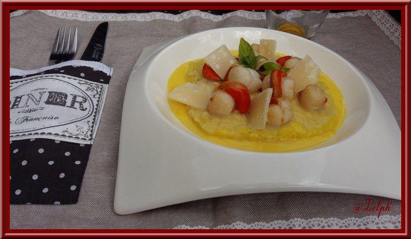 risotto aux st jacques et sauce au