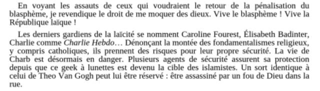 Mystérieux « suicide » du policier chargé de la connexion Charlie Hebdo-Jeannette Bougrab (Panamza)