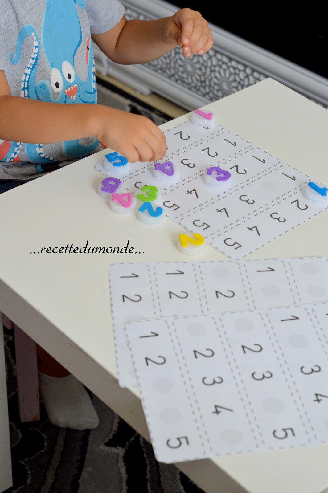 Apprendre Les Nombres De 1 5 Avec Des Bouchons Enfant