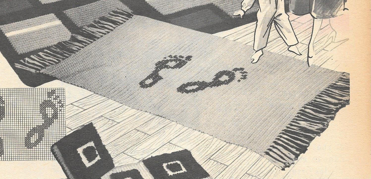 tapis au gros crochet a faire soi