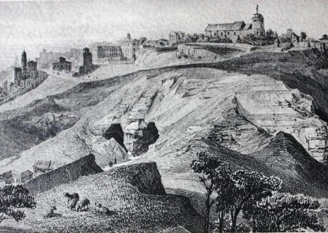 La collina e le cave di gesso, 1850
